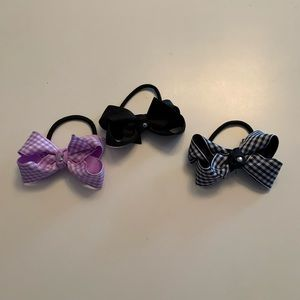 Other - 3 ponytail holders with attached classic bows NEW